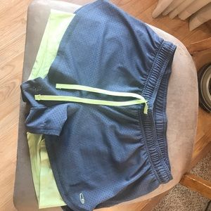 Champion shorts lined with spandex